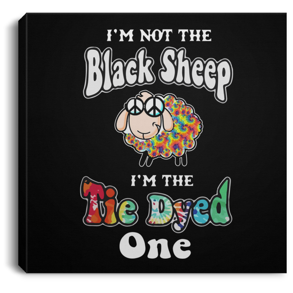 Tie Dyed Sheep Square Canvas .75 Inch Frame