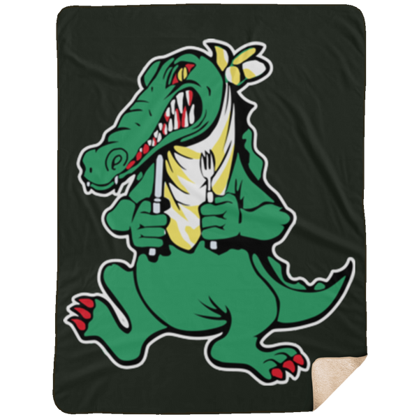 Alligator Guitar Large Premium Sherpa Blanket