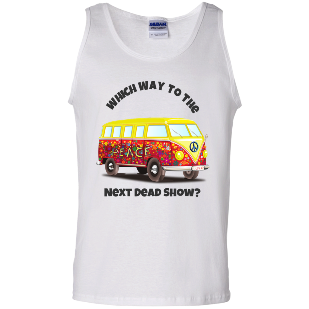 VW Bus Which Way To The Next Dead Show Cotton Tank Top