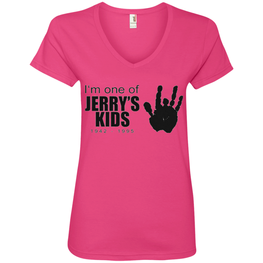 Jerry's Kids Handprint Ladies' V-Neck Tee Shirt