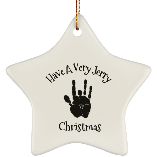 Have A Very Jerry Christmas Tree Ornament Star