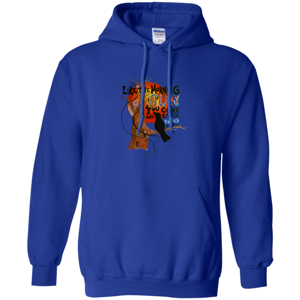 Crow Morning Sun Pullover Hoodie