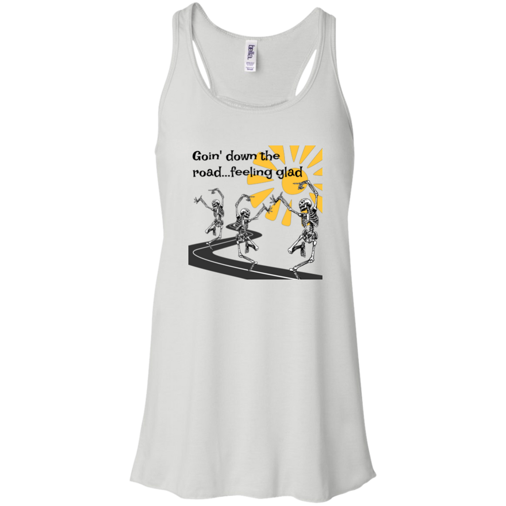 Going Down The Road  Flowy Racerback Tank