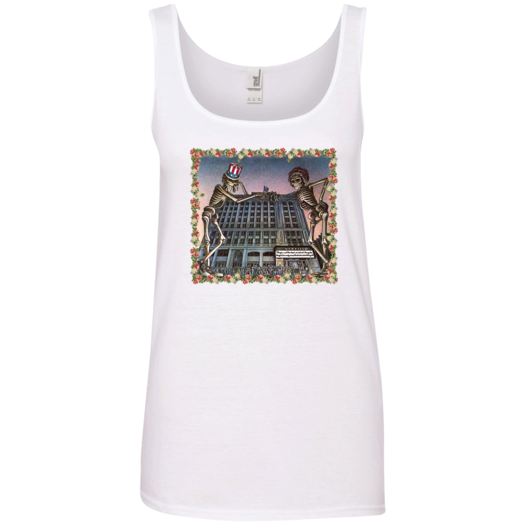 Skeleton Building Ladies' 100% Ringspun Cotton Tank Top