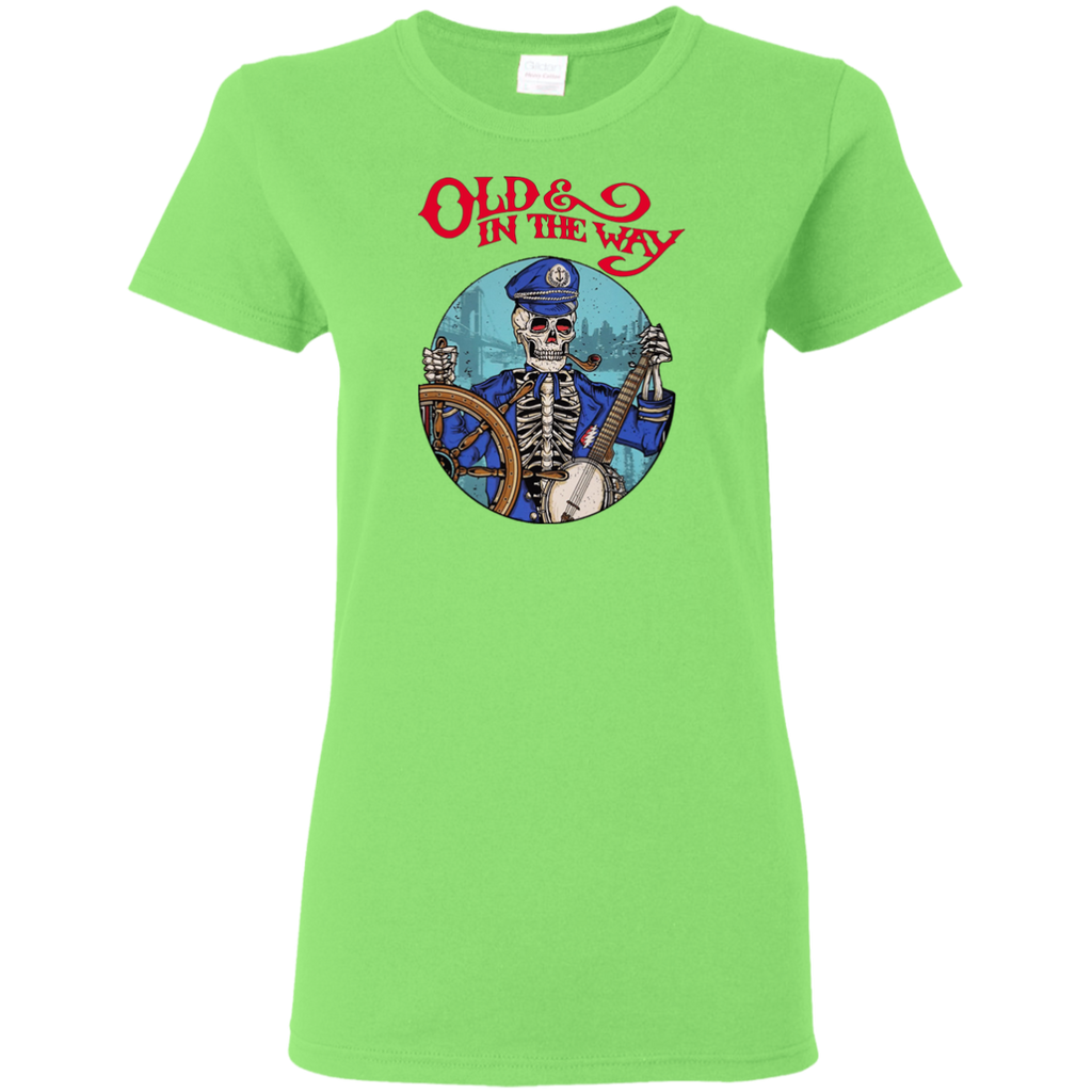 Overstock of Old In The Way Skeleton Ladies T-Shirt
