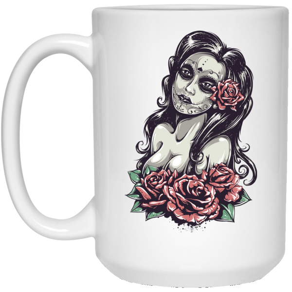 Day of The Dead Sexy Girl 15 oz Mug