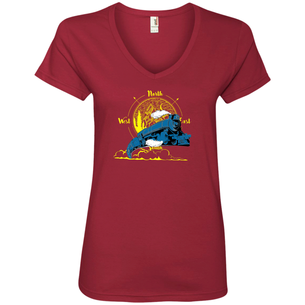 Northbound Train Ladies' V-Neck T-Shirt