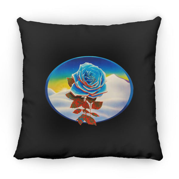 Blue Rose Winterland Square Pillow 16 Inches