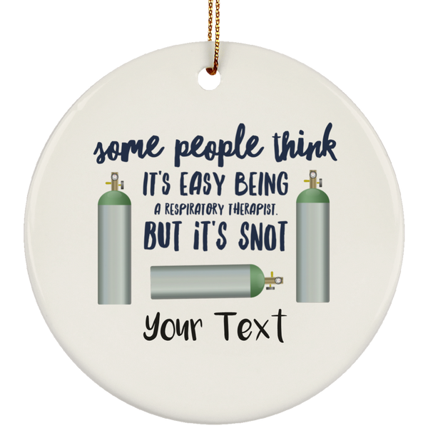 2017 Personalized RT Gift Ceramic Circle Ornament
