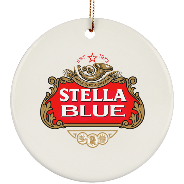 Stella Blue Circle Tree Ornament