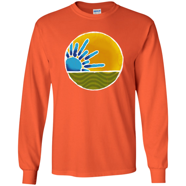 Overstock of Sky Yellow No Words Long Sleeve Ultra Cotton T-Shirt