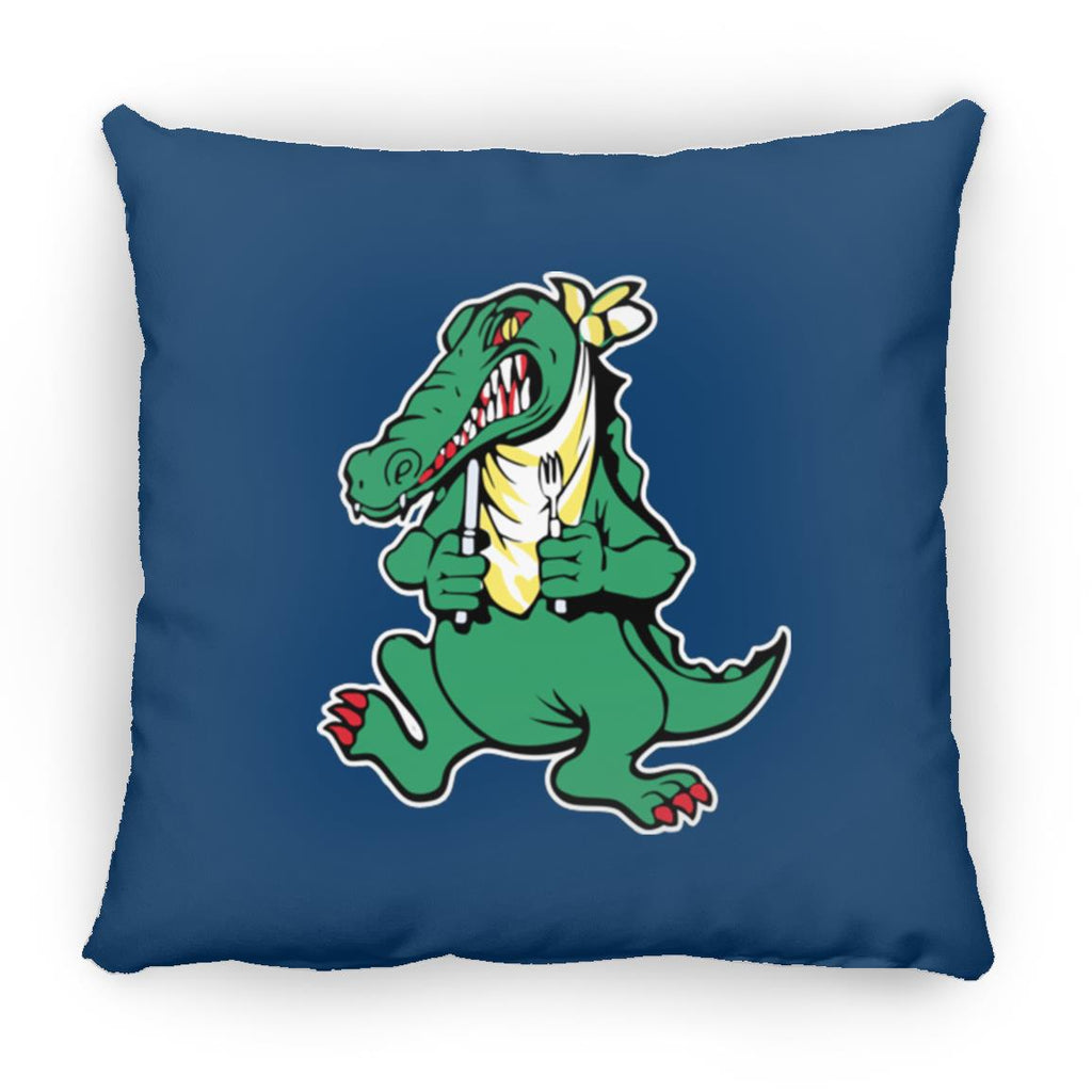 Alligator Guitar Square Pillow 16 Inches