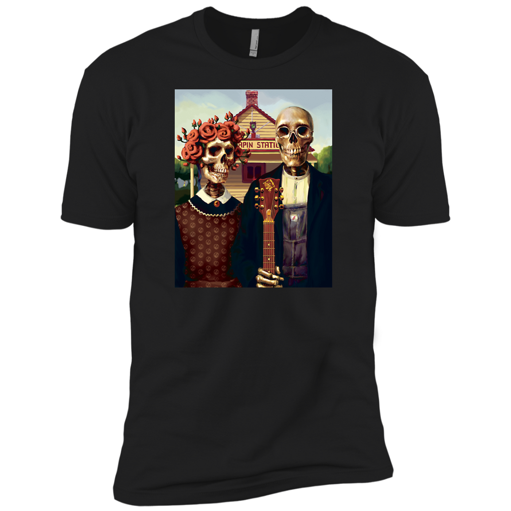 Skeleton Station Premium Cotton T-Shirt