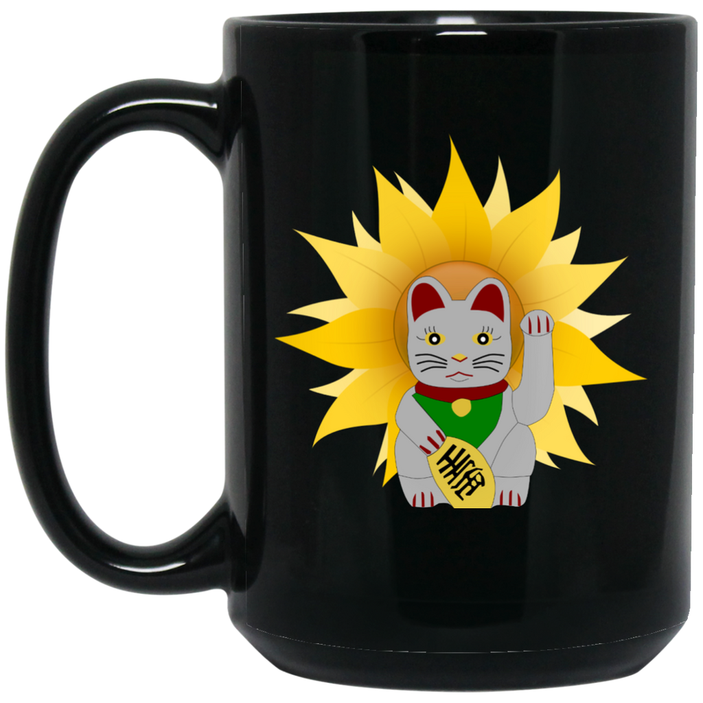 China Cat Sunflower Black 15 oz. Mug