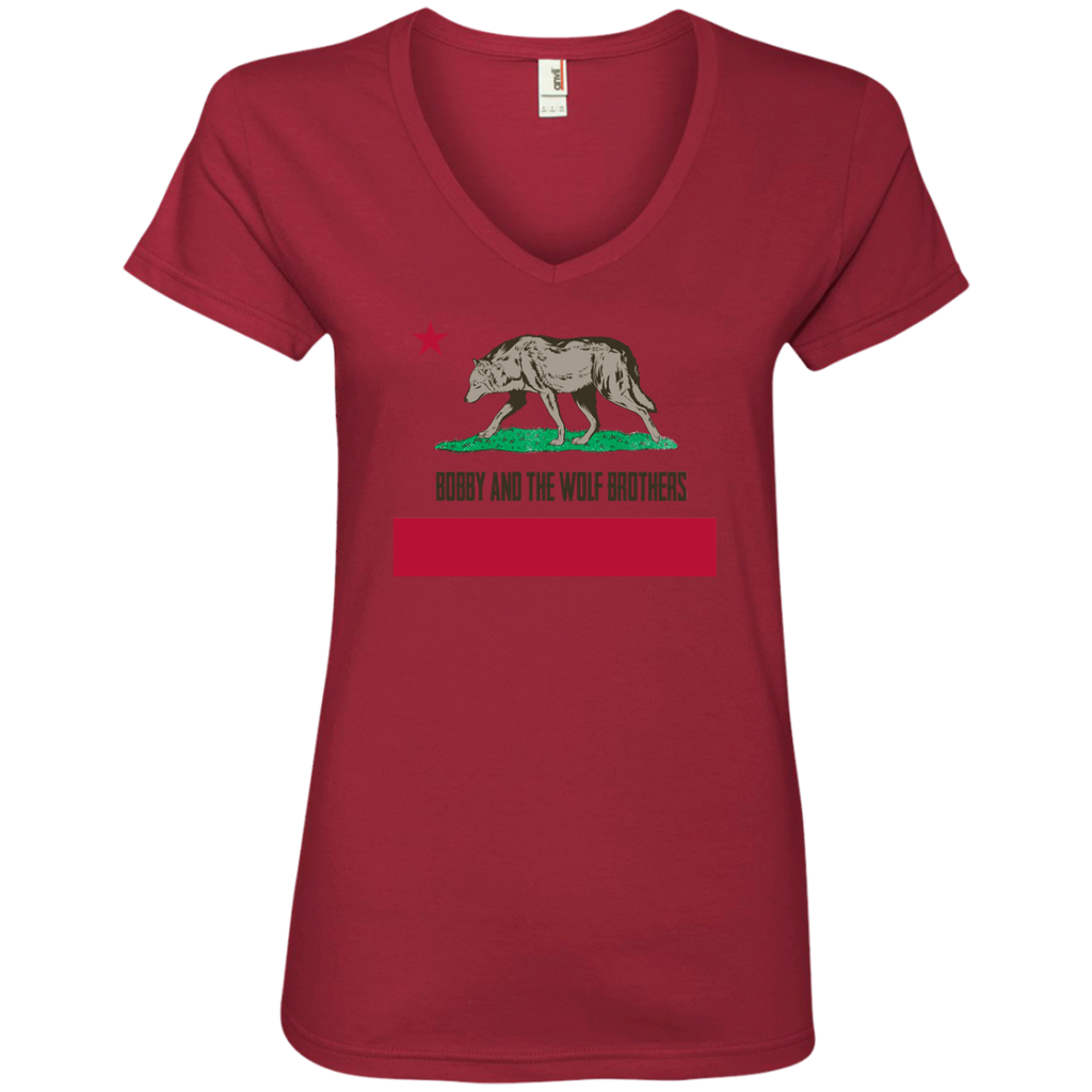 Bobby Wolf Brothers Ladies' V-Neck T-Shirt