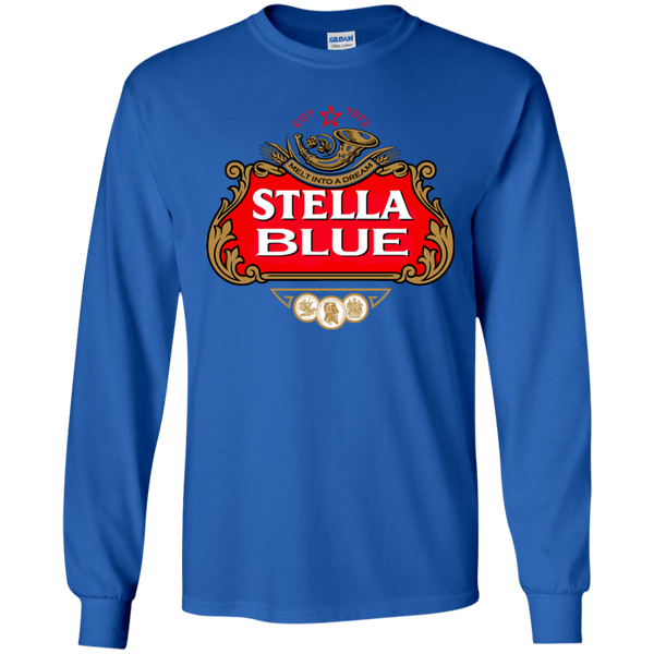 Stella Blue Long Sleeve Ultra Cotton T-Shirt