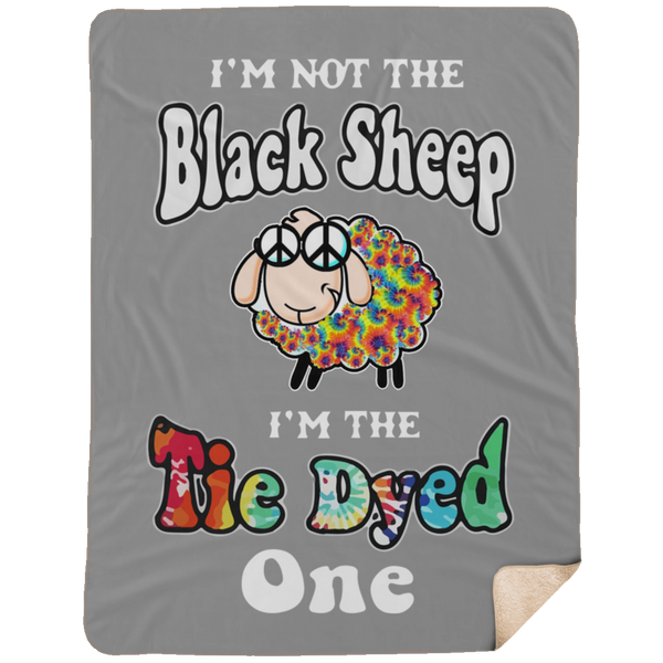 Tie Dyed Sheep Large Premium Sherpa Blanket