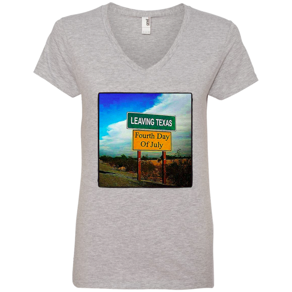 Leaving Texas Ladies' V-Neck T-Shirt