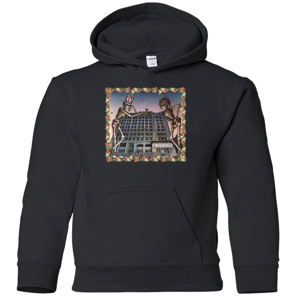 Skeleton Building Youth Pullover Hoodie