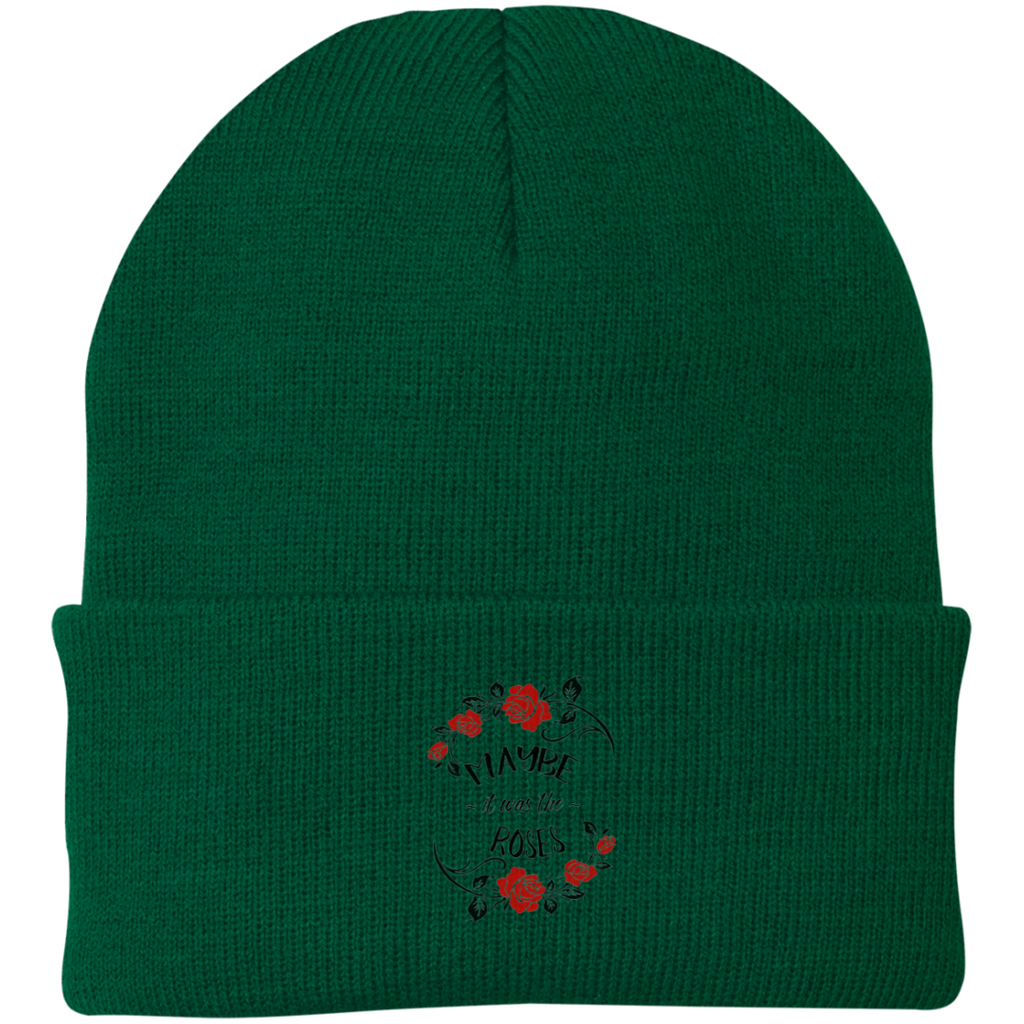 Maybe Roses Knit Cap
