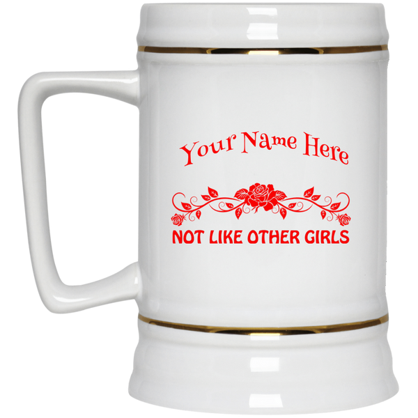 Personalized Not Like Other Girls Beer Stein 22oz.