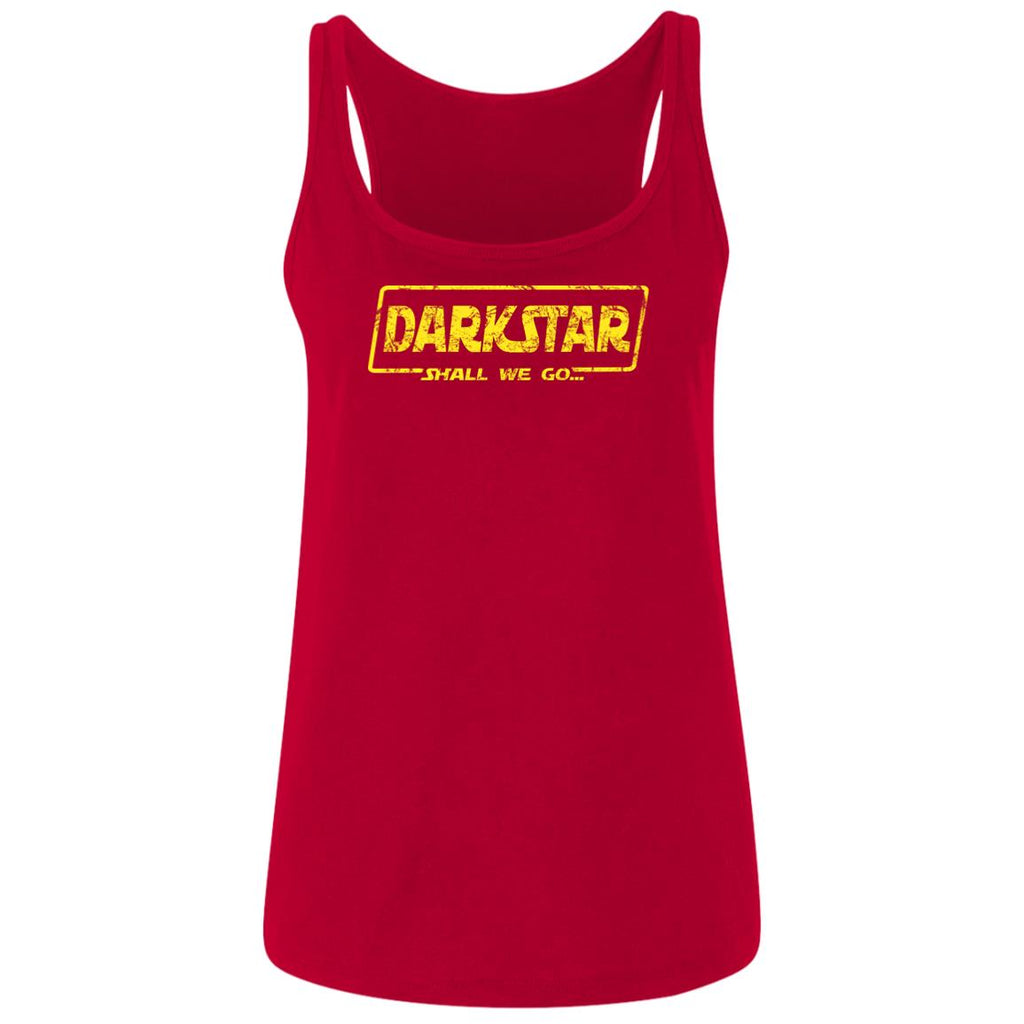 Dark Star Shall We Go Ladies Cotton Tank Top