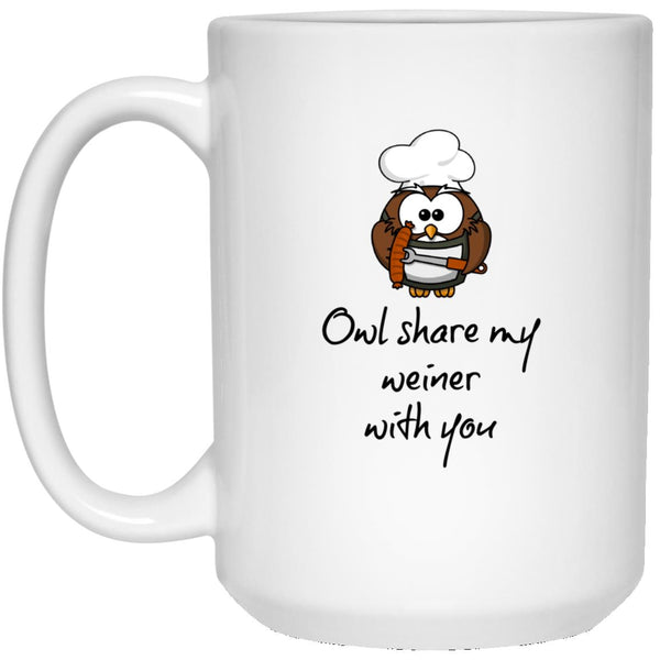 Owl Share my Weiner With You Coffee Mug