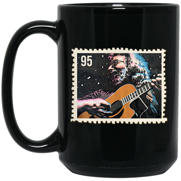 Jerry 95 Stamp 15 oz. Black Mug