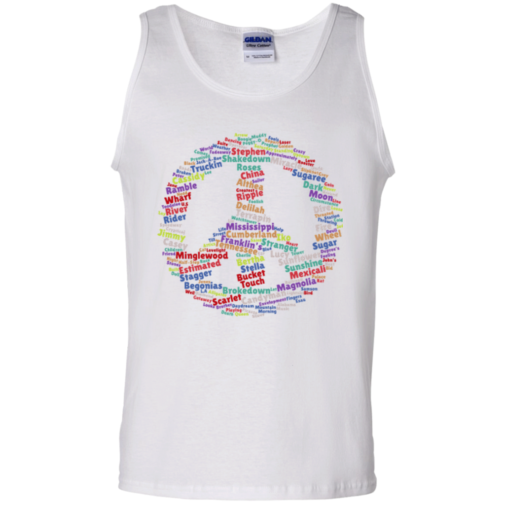 Peace Sign Dead Songs 100% Cotton Tank Top