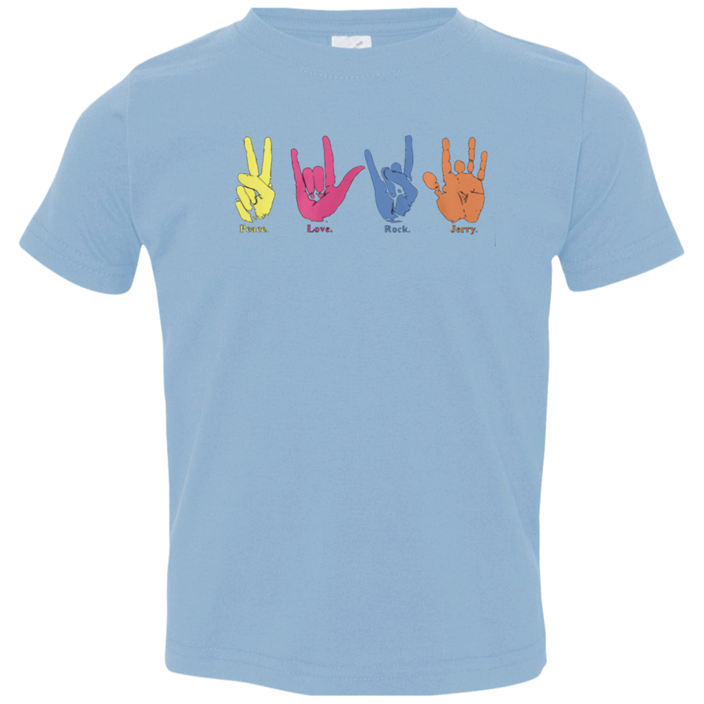 Peace Love Rock Jerry Toddler Jersey Tee