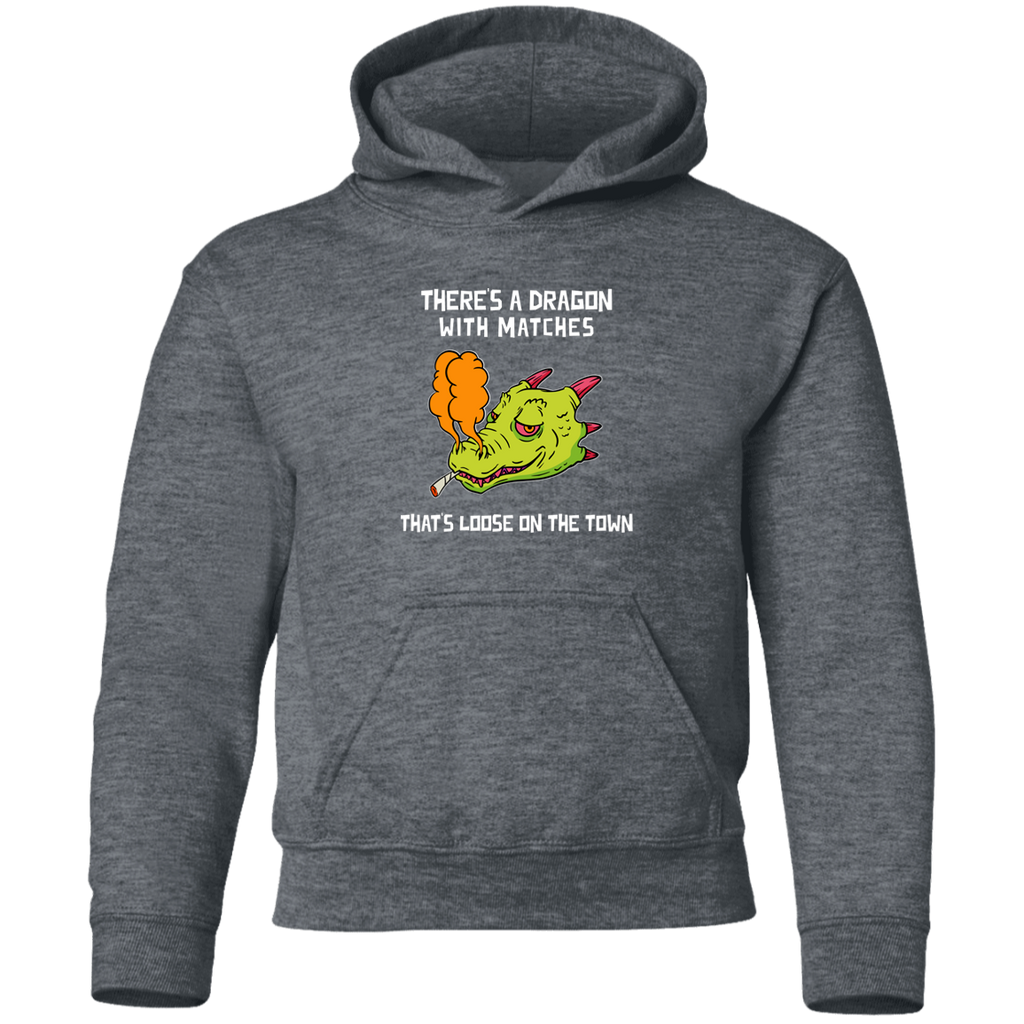 Dragon With Matches  Youth Pullover Hoodie