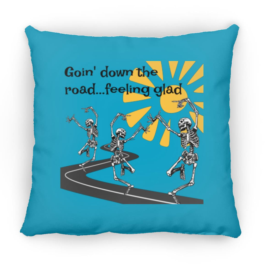 Going Down The Road Square Pillow 16 Inches