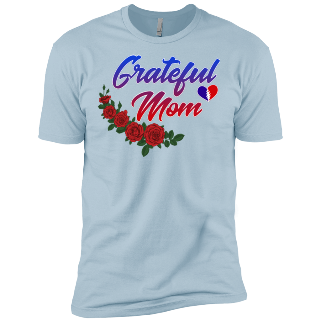 Grateful Mom Roses Premium Cotton T-Shirt