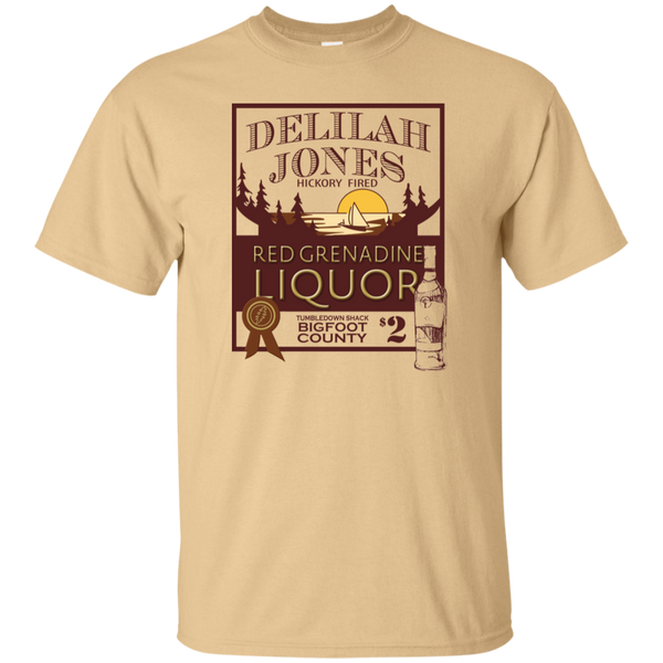 Overstock of Delilah Jones Liquor Ultra Cotton T-Shirt Mens Small