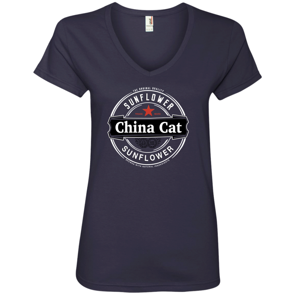 China Cat Heiny Ladies' V-Neck T-Shirt