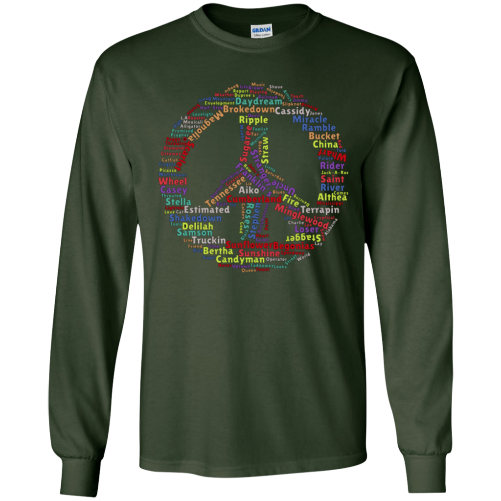 Peace Sign Dead Songs LS Ultra Cotton T-Shirt