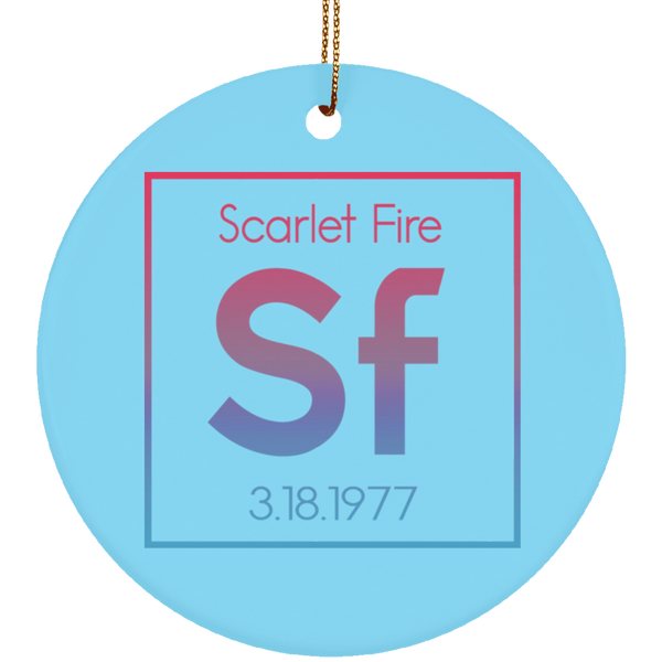 Scarlet Fire Christmas Tree Ornament