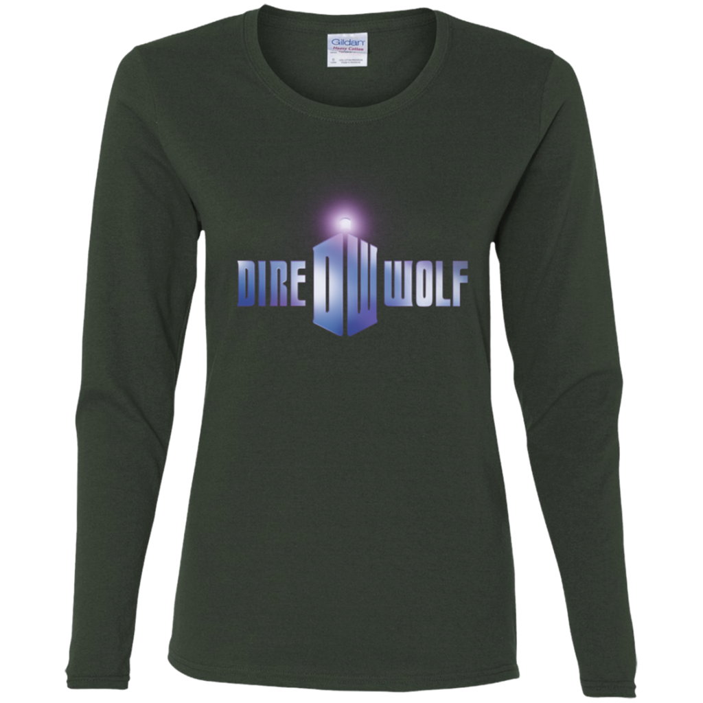 Dire Wolf Ladies' Cotton Long Sleeve T-Shirt