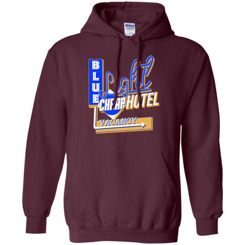 Blue Light Cheap Hotel Pullover Hoodie