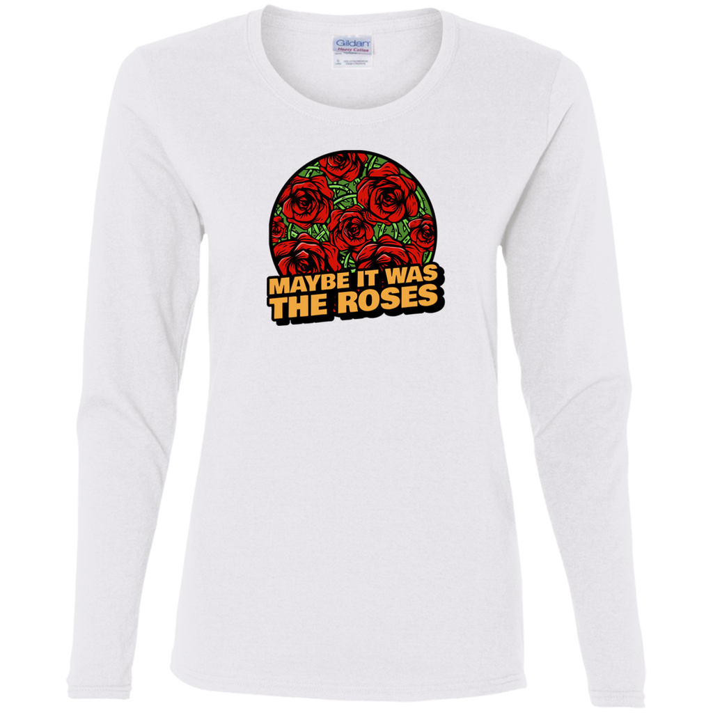 Maybe Roses Circle  Ladies' Cotton Long Sleeves T-Shirt