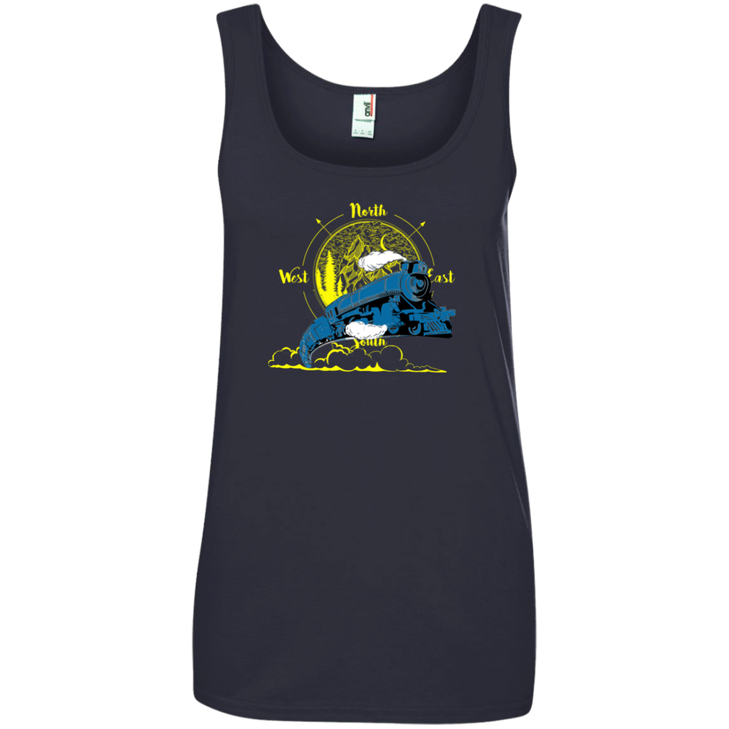 Northbound Train Ladies' 100% Ringspun Cotton Tank Top