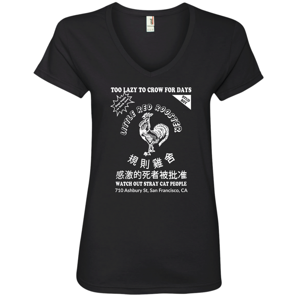 Rooster Hot Sauce Ladies' V-Neck T-Shirt