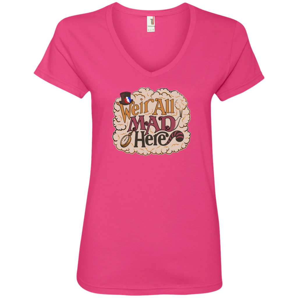 Weir All Mad Ladies' V-Neck T-Shirt