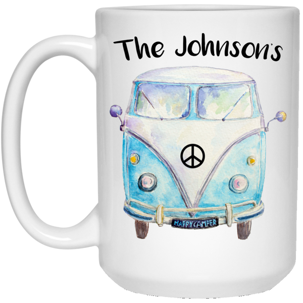Personalized Family Bus 15 oz. White Mug