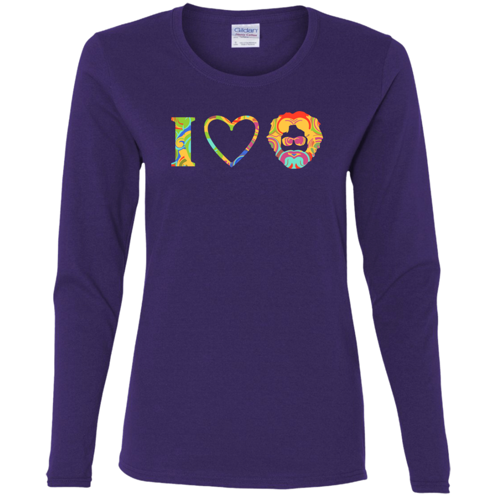 I Heart Jerry Ladies' Cotton Long Sleeves T-Shirt