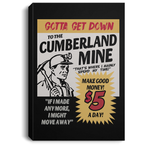 Cumberland Mine Portrait Canvas .75 Inch Frame