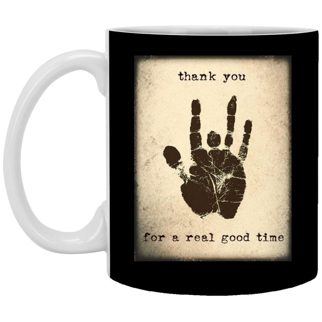 Limited Edition - Jerry Handprint Thank You Mug Black