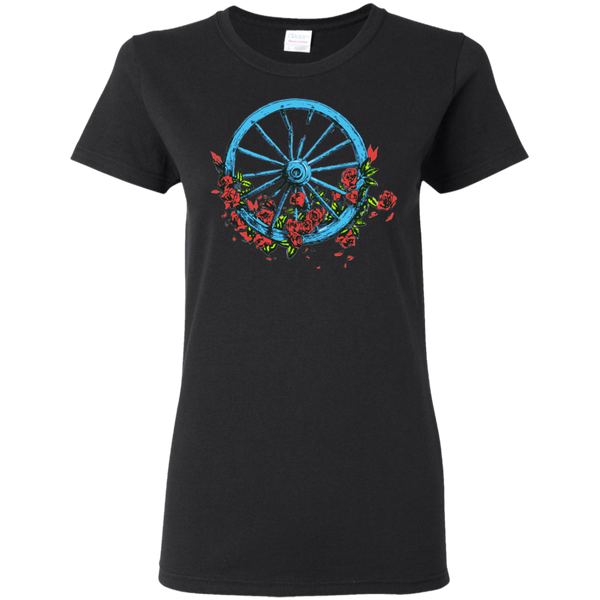 Wheel Roses Ladies T-Shirt