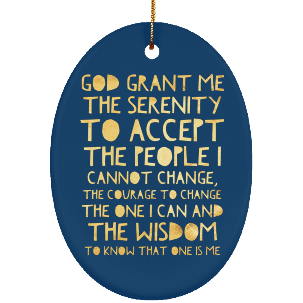 ACA Serenity Prayer Christmas Tree Ornament Oval