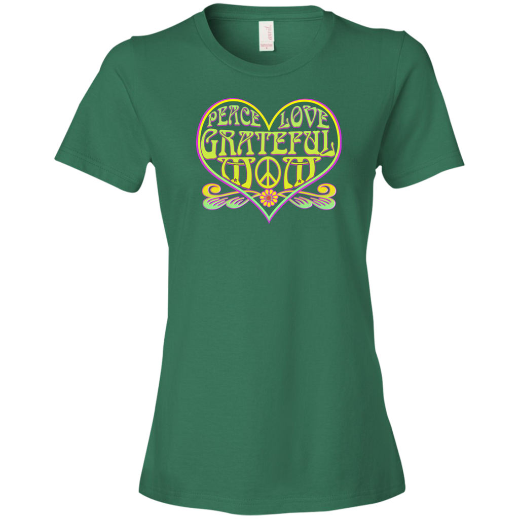 Grateful Mom Peace Love Ladies Premium T-Shirt
